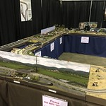 NRMRC T-TRAK layout @ World's Greatest Hobby show Charlotte, NC 2018