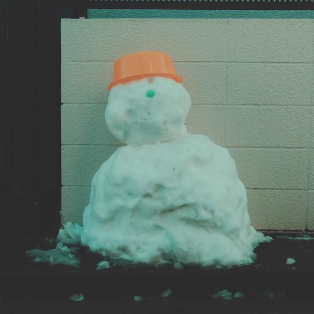 Sloppy snowman