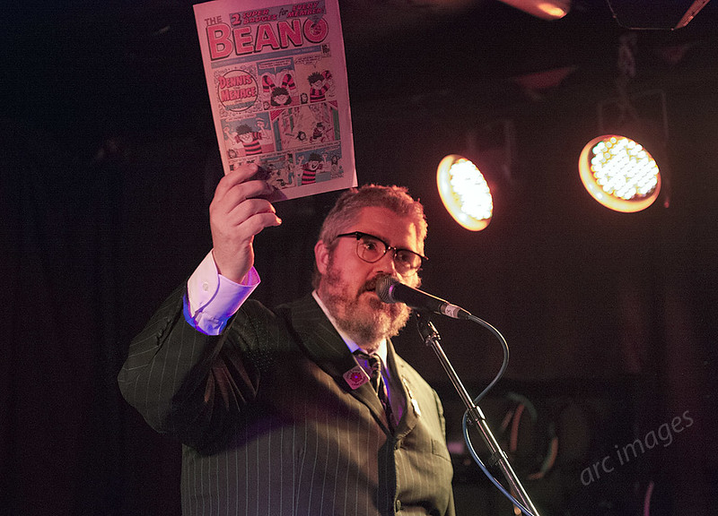 Porky the Poet aka Phil Jupitus at The Yorkshire House, Lancaster