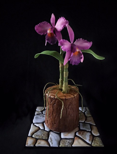 Cattleya Orchid Cake by Sherry Dioso of Sherry Berry's Kitchen