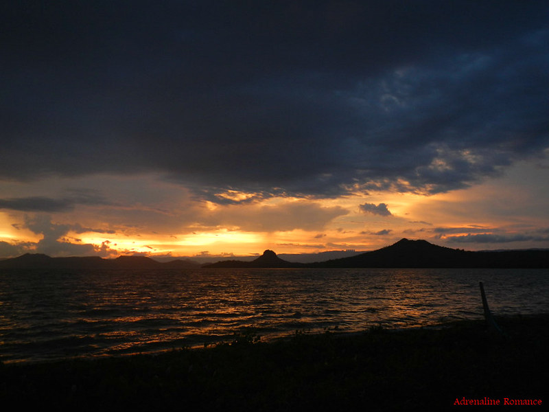 Beautiful sunset at Taal Lake