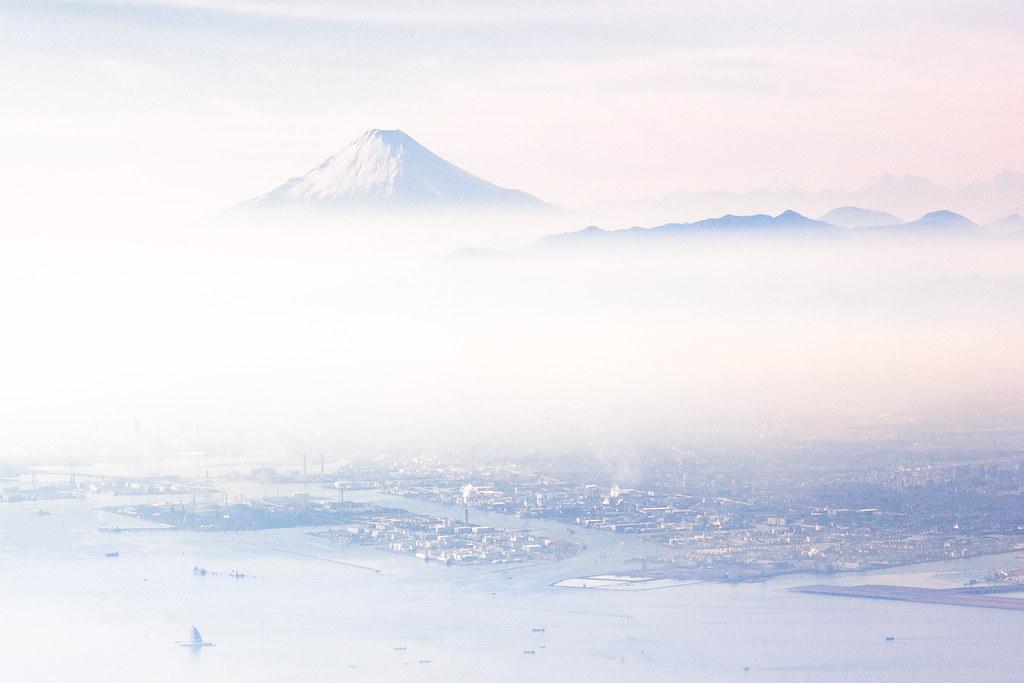 Fuji-San when landing in Haneda Airport