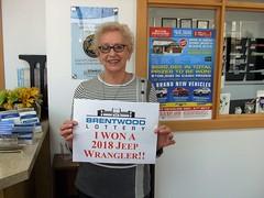 Winner of the 2018 Jeep Wrangler: Helen McWhinney of Amherstburg