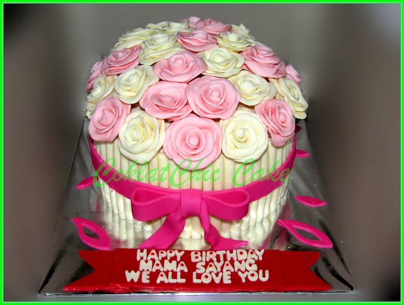 Cake Flowers 18 cm Mama Sayang