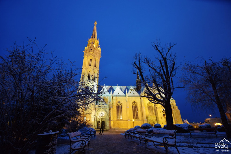 Night view of St Matthias Church - Budapest places to visit and things to do