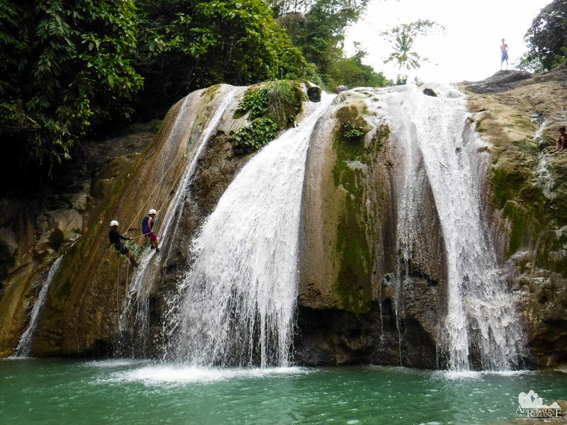 Rappelling Off Busay Falls