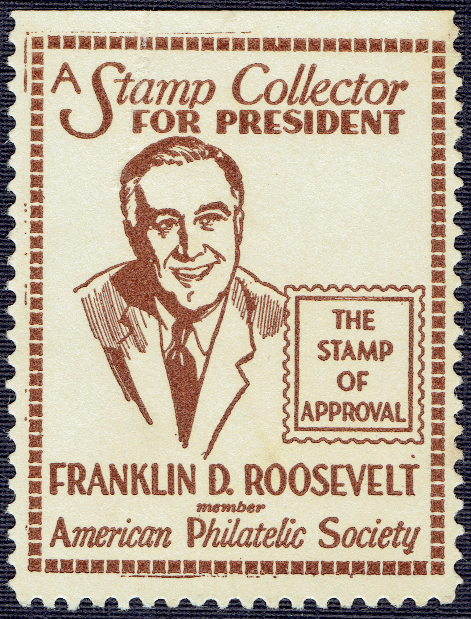 President Franklin Delano Roosevelt Philatelist A Stamp A Day