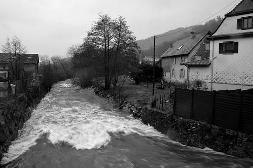 Intempéries à Luttenbach-près-Munster  -  Bad weather to Luttenbach-near-Munster