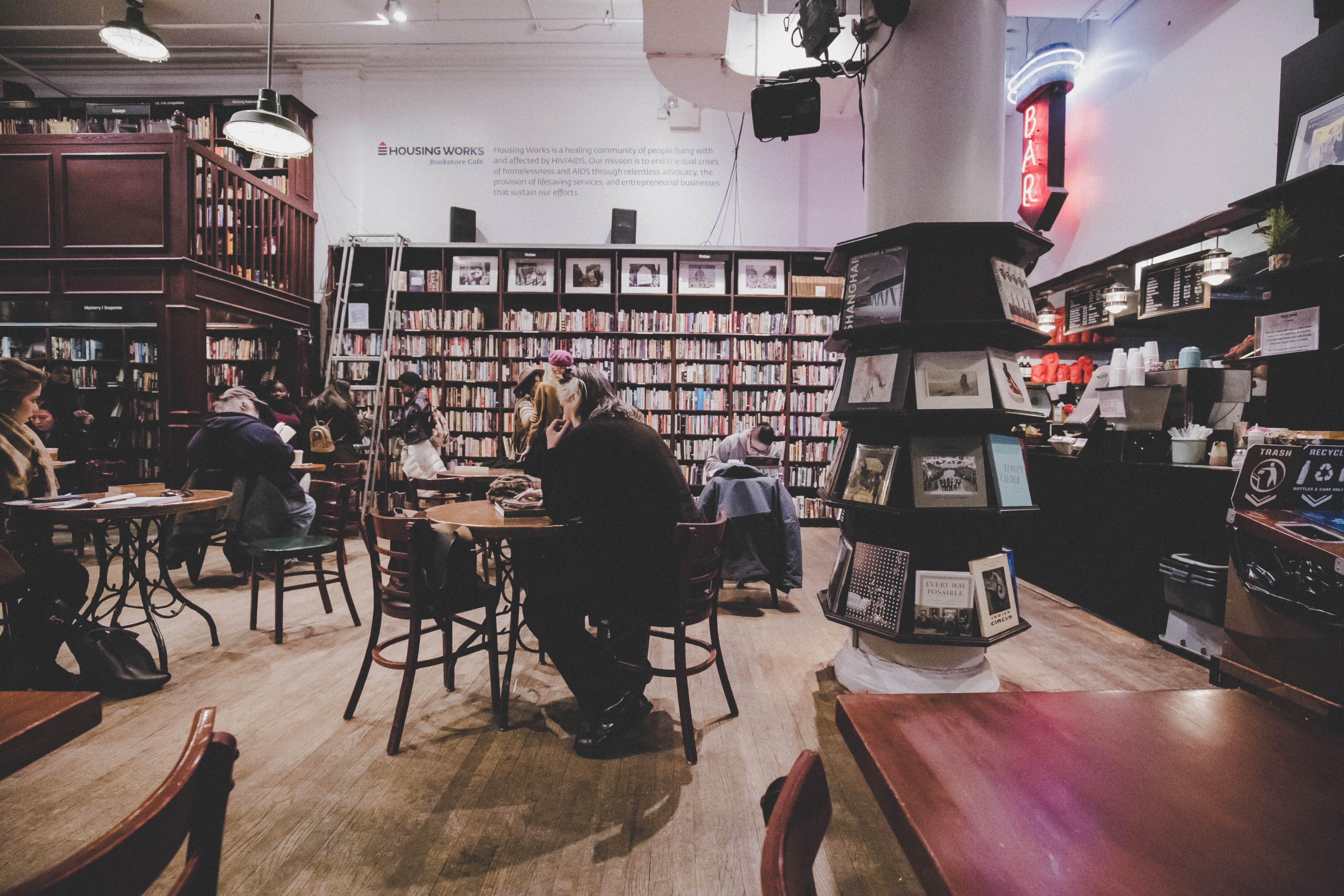 The Housing Works bookstore cafe