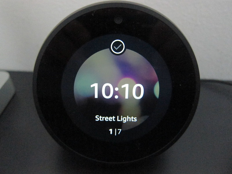 Amazon Echo Spot - Choosing Clock Screens