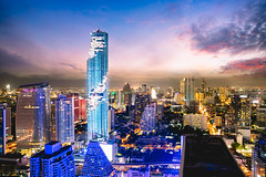 MahaNakhon tower is tallest buildings in Thailand, Silom area, Bangkok Thailand