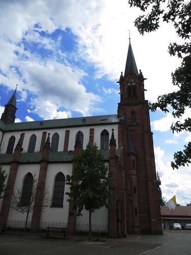 20140804 02 457 Jakobus Marienthal Wolken Kirche Turm