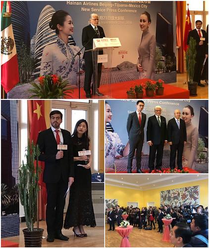 Lanzamiento del primer vuelo directo Beijing-Tijuana-Ciudad de México