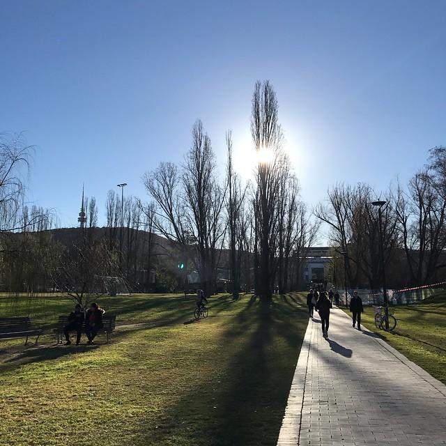 ANU校園一景,澳洲宜人的天氣十分討人喜歡,即使是冬天,有陽光的地方也很溫暖。