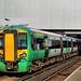 Southern Class 377/2 Electrostar EMU No. 377 202 at Gatwick Station on 8 Feb 2018