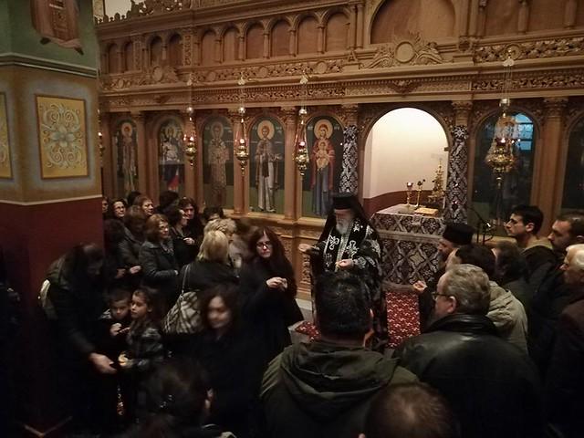 Η Α' Προηγιασμένη Θεία Λειτουργία στην Τρίπολη