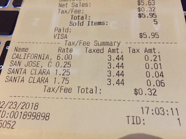 Santa Clara taxes twice?