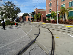 Tampa Bay Historical YBOR City (Hillsborough Area Regional Transit Authority) HART TECO Line Trolley Line Carhouse Area