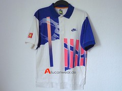 VINTAGE NIKE AGASSI AIR TECH CHALLENGE COURT POLO SHIRT