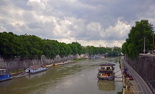Ponte Regina Margherita down river