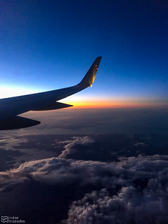 Sunrise from the aircraft