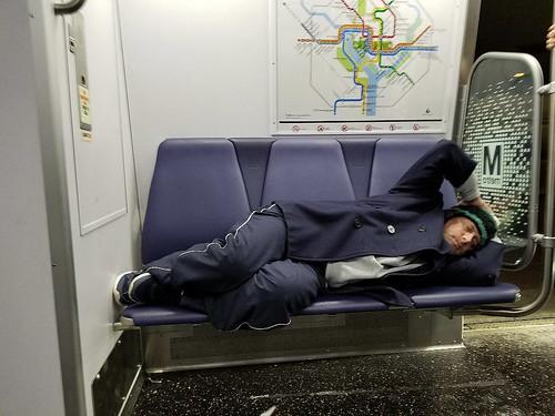Sleeping In the Subway