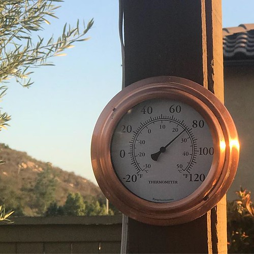 Five o'clock. 78 F. Winter, San Diego.