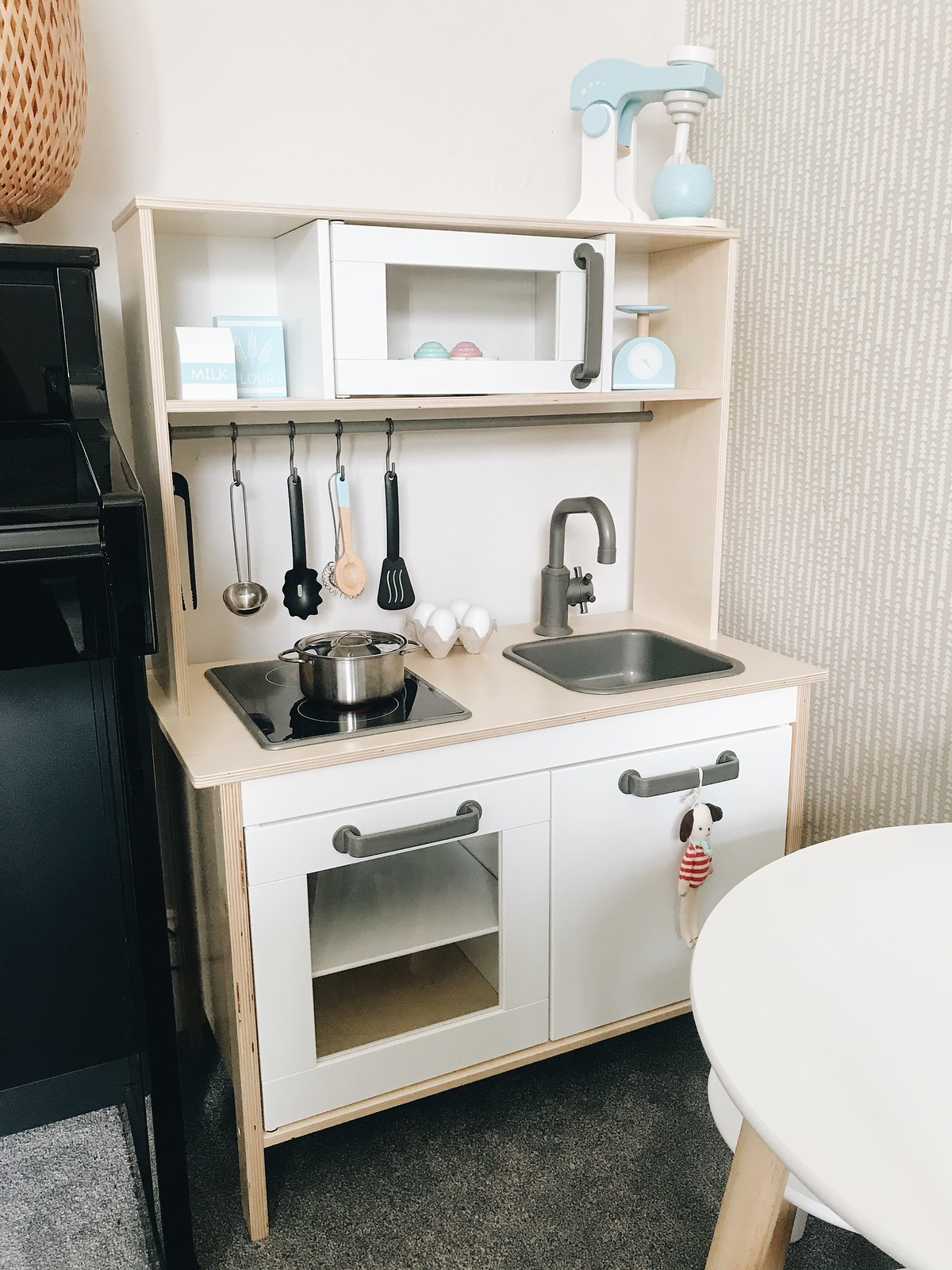 ikea wooden toy kitchen toddler