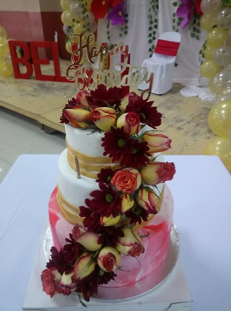 Fondant Marble Red Cake by Sherwin Silverio Baraoidan of Sweet Honey Tooth