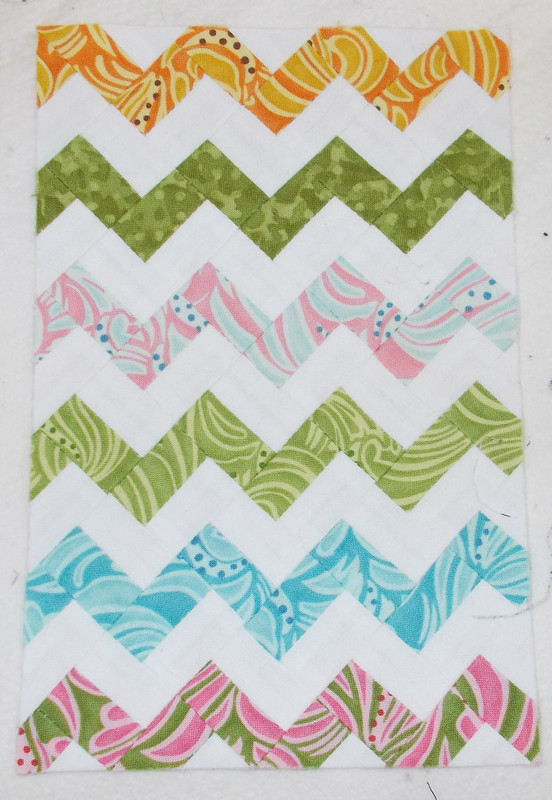 Ultra Mini Zigzag quilt top by Sandi Walton at Piecemeal Quilts