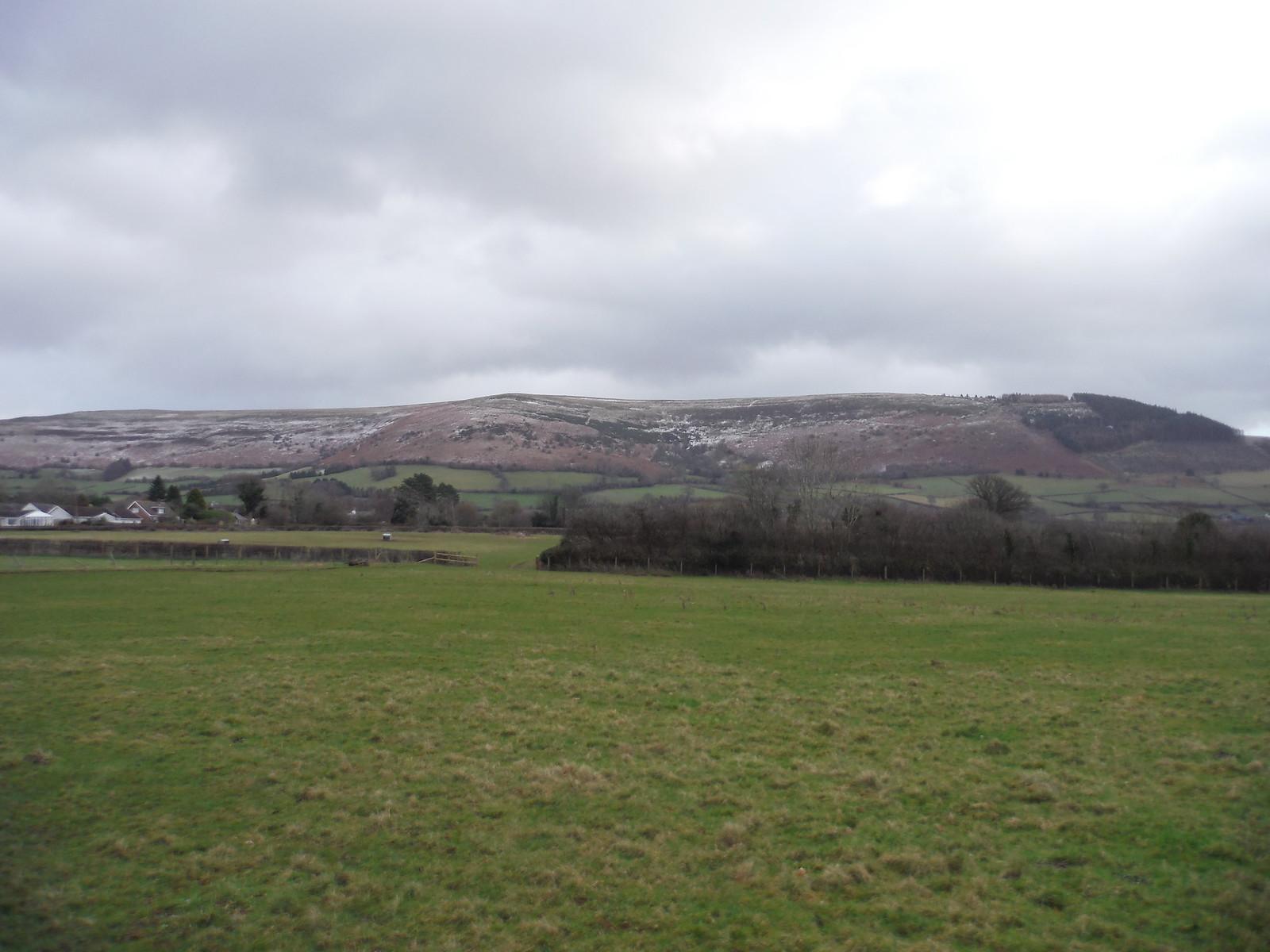 Mynydd Llangorse from field in Llangors SWC Walk 308 - Bwlch Circular (via Mynydd Troed and Llangorse Lake)