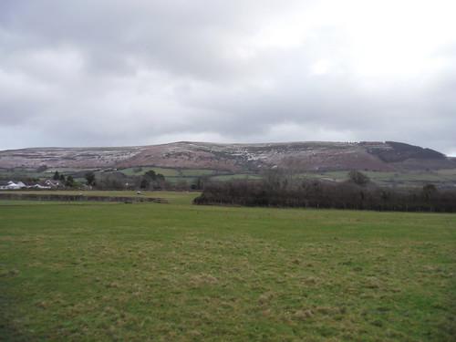 Mynydd Llangorse from field in Llangors