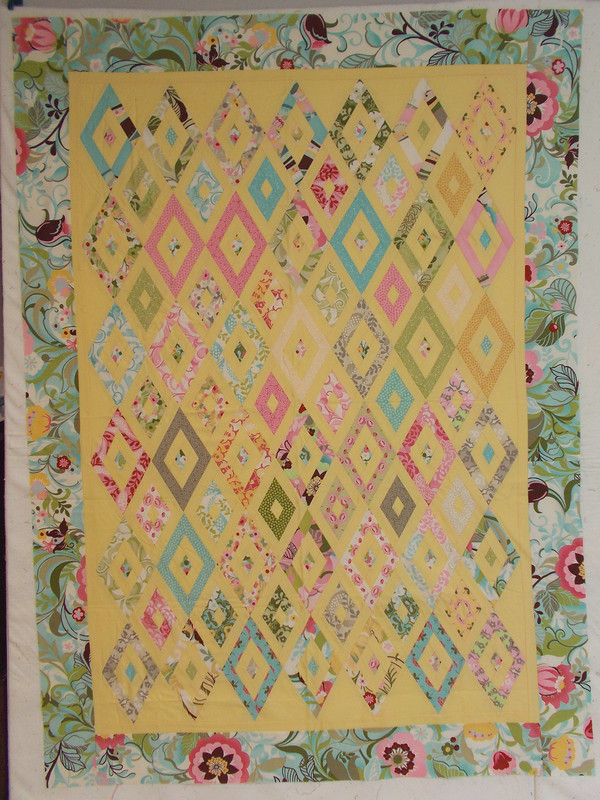Honey Bun Diamonds by Sandi Walton at Piecemeal Quilts