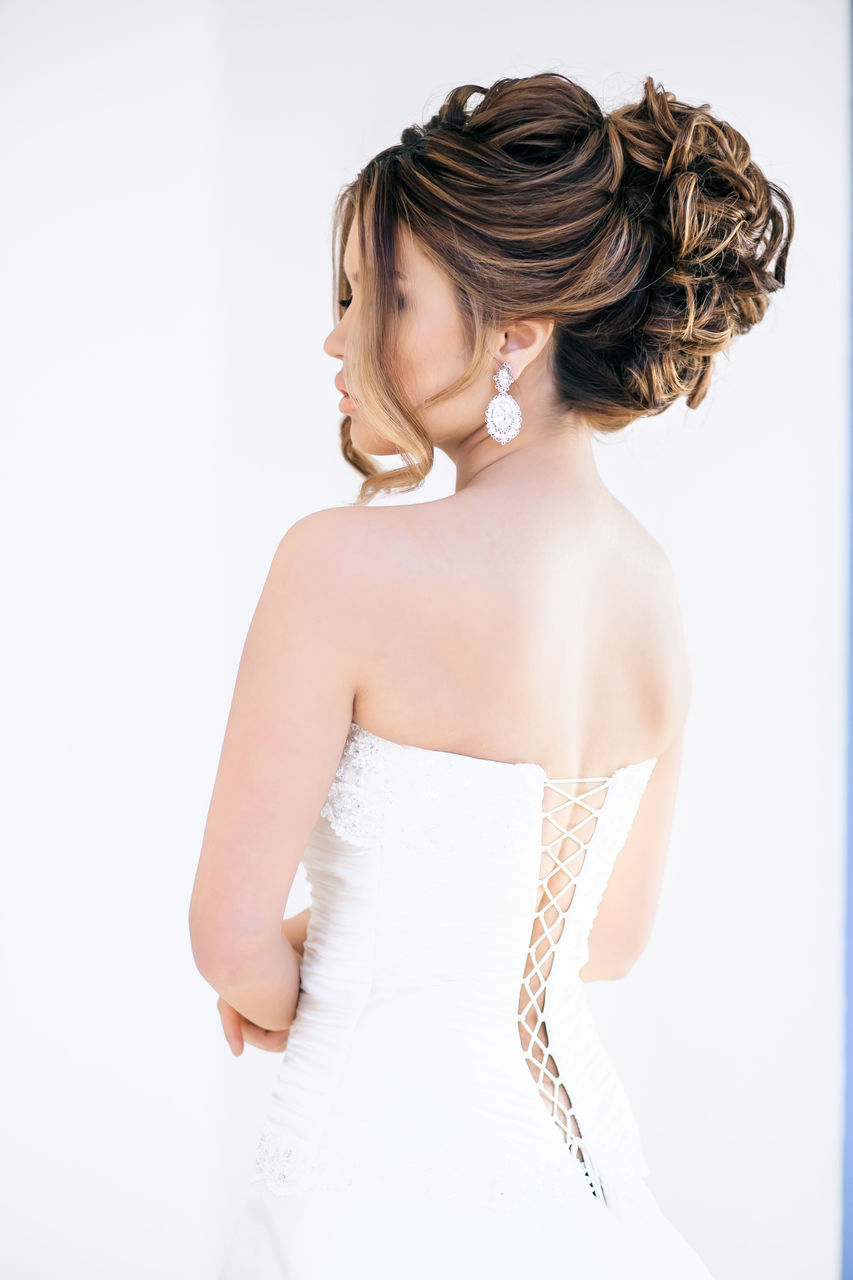 Refulgent day Long Length Black Hairstyles with accent for Bride 2018