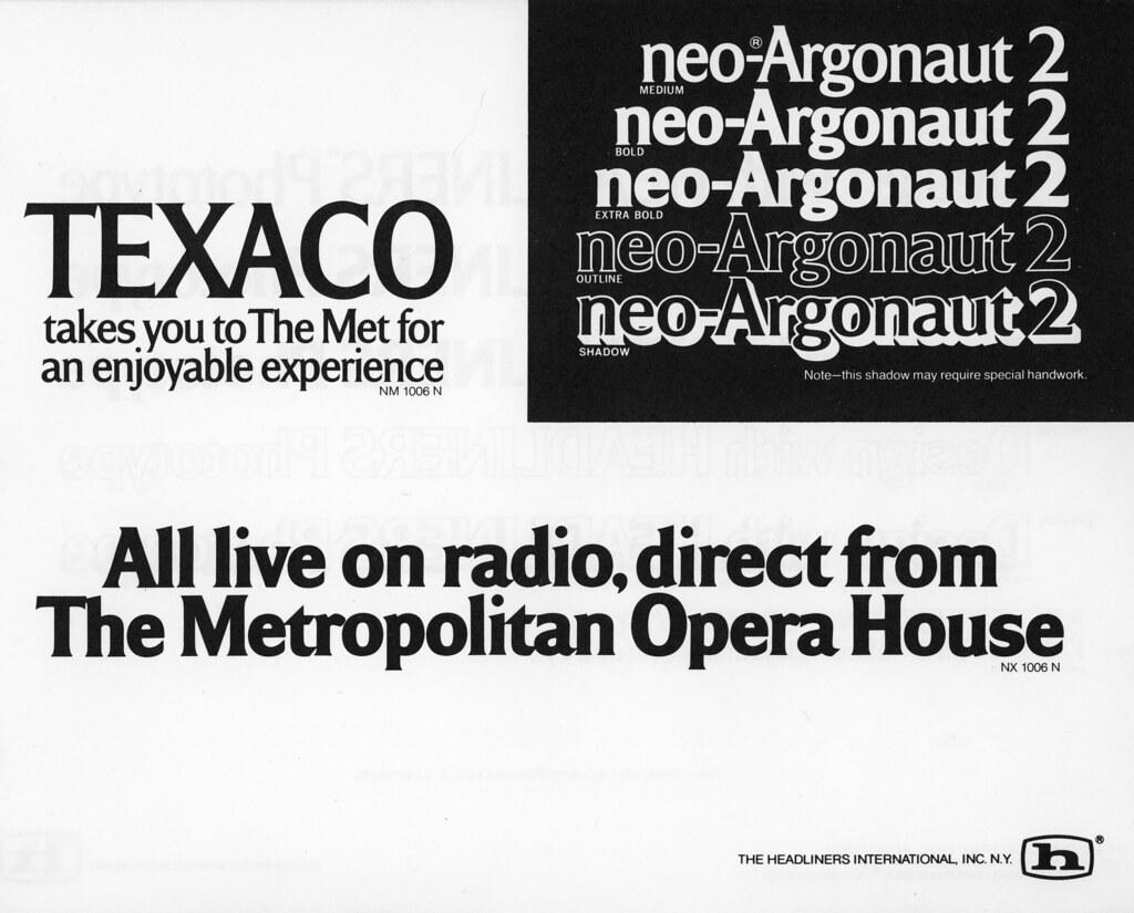 neo-Argonaut 2, Headliners, 1977