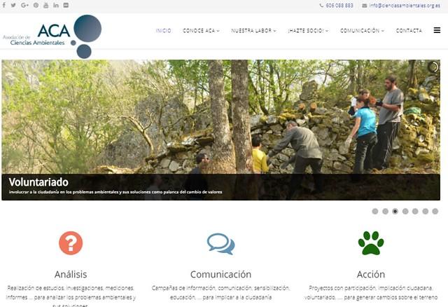 Imagen principal de la web de ACA