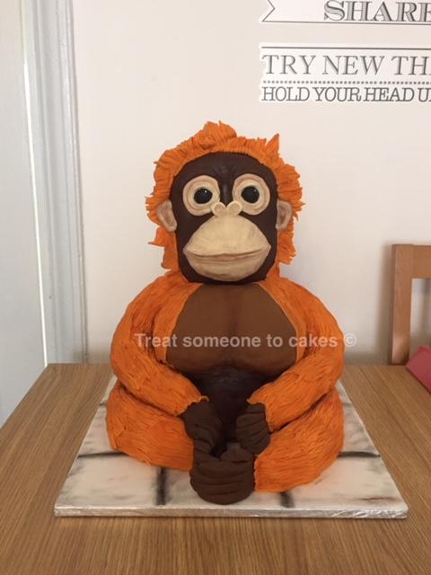 Gorgeous Orangutan by Treat Someone To Cakes