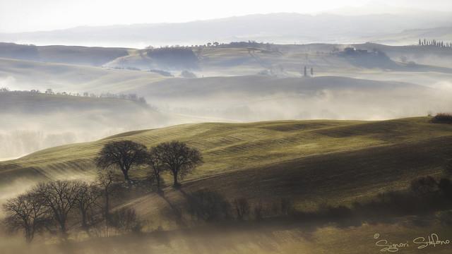 Magia della nebbia in, Canon EOS 5D MARK II, Canon EF 70-210mm f/4