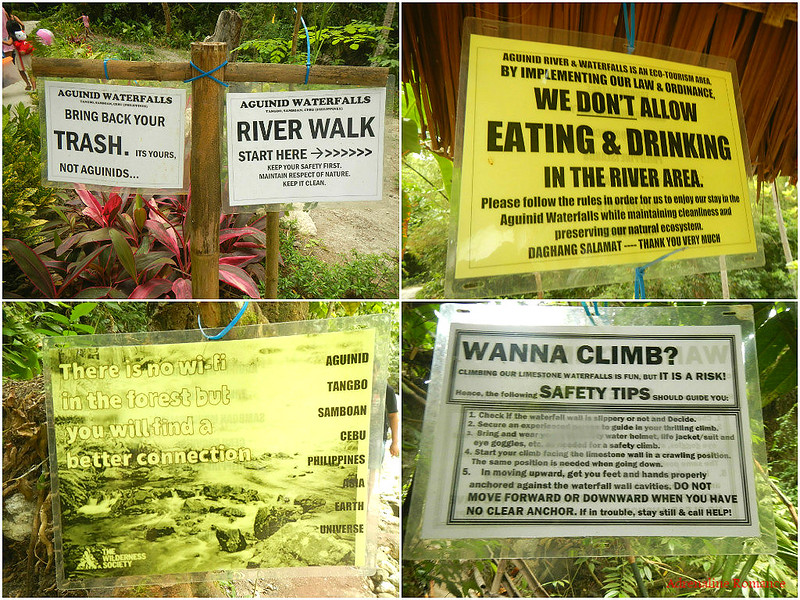 Read the signages