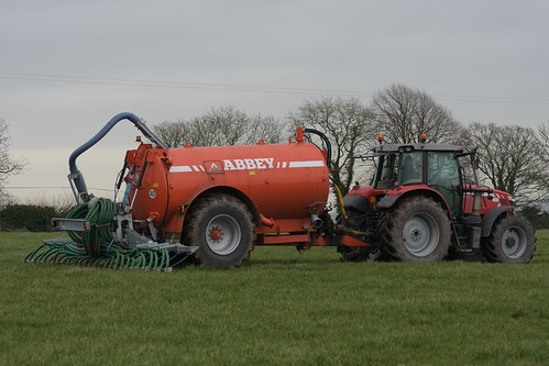 Massey Ferguson 6615 Dyna 4 Tractor with an Abbey 2500R Premium Plus Vacuum Slurry Tanker