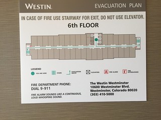 Map of the 6th Floor at Westin Westminster
