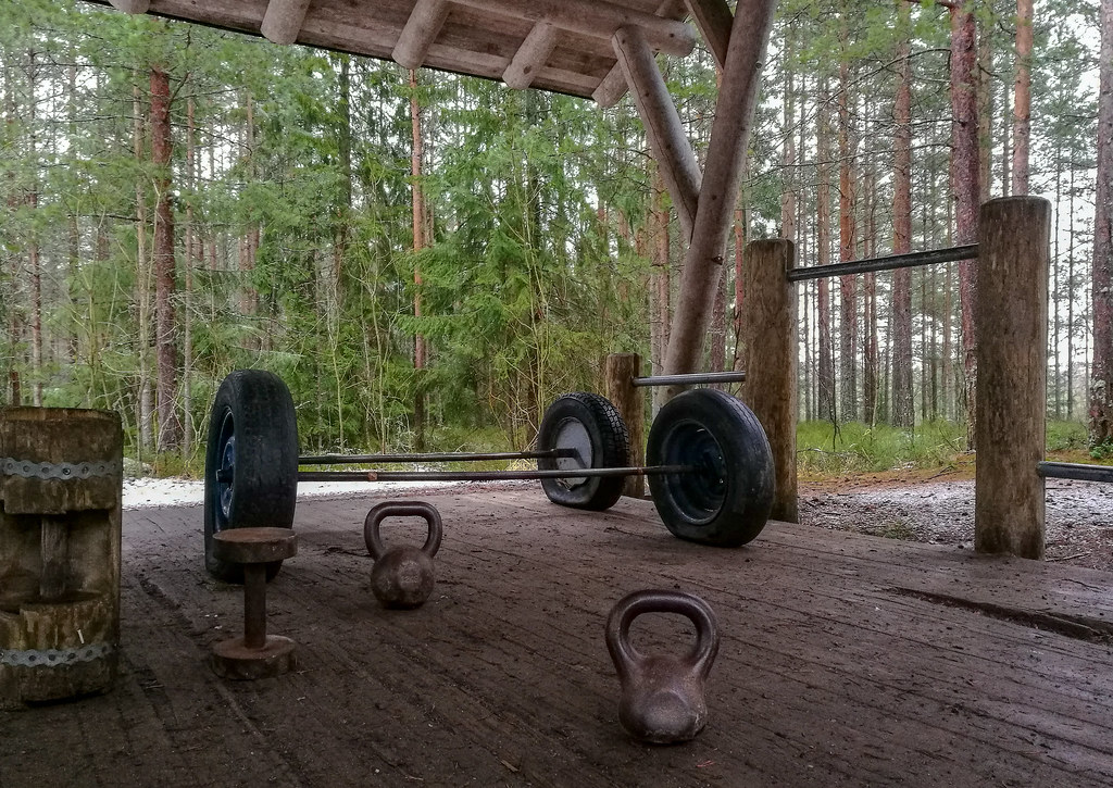 Outdoor activities in Pori Finland: Outdoor gym in Pori Forest