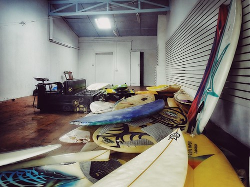 Surfboards and Dead Piano