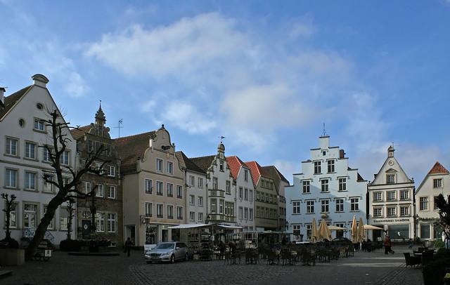 Der Marktplatz von Warendorf im Münsterland