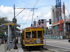 Tampa Bay Tampa Bay (Hillsborough Area Regional Transit Authority) HART Tampa Bay TECO Line  Gomaco Replica Birney Trolley 433 Car