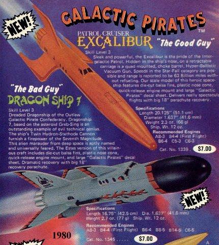 Estes Patrol Cruiser Excalibur Catalog Page