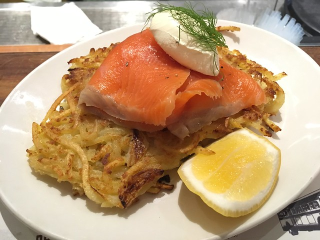 Salmon latkes - Federal Delicatessen