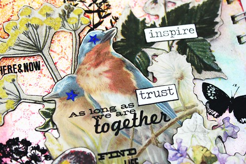 Meihsia Liu Simply Paper Crafts mixed media art journal Birds of Feather Simon Says Stamp Tim Holtz 5
