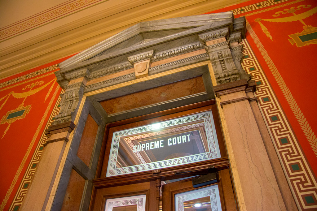 Sign over door for Supreme Court Chamber