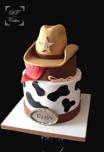 Cowboy Theme Cake by DT Cakes by Djamila Tahar